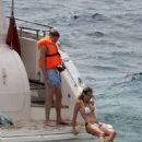 Ann-Kathrin Brommel and Anna Sharypova in Bikini on holiday in Mallorca - 454 x 622