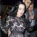 Dita Von Teese leaving the Playboy Club in Mayfair, London