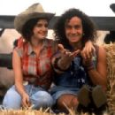 Carla Gugino and Pauly Shore