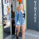 Peyton R List in Denim Shorts – Out in LA