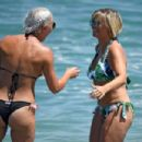 Kerry Katona in Bikini on the beach in Marbella - 454 x 303