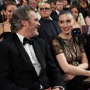 Joaquin Phoenix and Rooney Mara At The 92nd Annual Academy Awards - Show