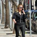 Khloe Kardashian heads to the gym in Beverly Hills, California on February 12, 2017