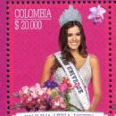 Paulina Vega honored in a postage stamp
