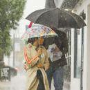 Jenna Dewan and Steve Kazee – Out on a rainy day in LA