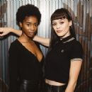 Genevieve Potgieter and Jennifer Malengele at Fred Perry Subculture Event on September 20th, 2018 in London, UK - 454 x 454