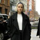 Maia Mitchell – Arrives at Build Series in NYC - 454 x 454