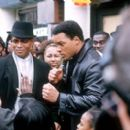 Mario Van Peebles as Malcolm X and Will Smith as Muhammad Ali in Columbia's Ali - 2001