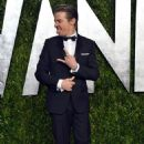 Jeremy Renner, looking stupid, arrives at the 2013 Vanity Fair Oscar Party hosted by Graydon Carter at Sunset Tower on February 24, 2013 in West Hollywood, California
