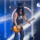 Slash is seen at 'Jimmy Kimmel Live' in Los Angeles, California