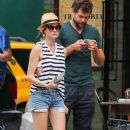 Couple Diane Kruger and Joshua Jackson spotted out and about in New York City, New York on July 8, 2015 - 383 x 600