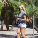 Malin Akerman – In shorts out for a walk in Los Feliz - 454 x 681
