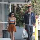 Sarah Hyland in Mini Skirt with boyfriend Wells Adams in Studio City