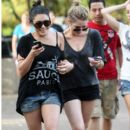 Vanessa Hudgens and Ashley Benson ride the rides at Busch Garden March 03, 2012