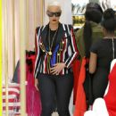 Amber Rose Shopping at House of CB in Westfield Stratford City in London, England - April 22, 2015