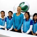 Maria Sharapova - Visits The Sony Ericsson Booth In Beijing - 04.10.2010