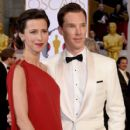 Benedict Cumberbatch and his wife Sophie Hunter - February 22, 2015 - Arrivals at the 87th Annual Academy Awards. - 409 x 600