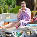 Asli Enver was spotted on a beach in Marmaris (June 28, 2016)