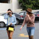 Ashley Greene and Cara Santana at a nail salon in Los Angeles - 454 x 681