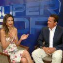 Luciana Gimenez and Arnold Schwarzenegger