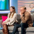 Elizabeth Olsen and Paul Bettany on 'Lorraine' TV show in London - 454 x 570