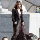 Heidi Klum spotted on the set of 'Ocean's Eight' in Los Angeles, California on March 6, 2017 - 434 x 600