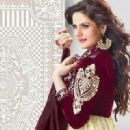 Zarine Khan In Anarkali New Photo Shoot For A New Collection Of 2013 - 320 x 453