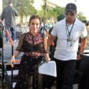 Alyssa Milano – Hosting Actions for Change Food and Music Festival in Parkland