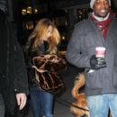 "Blake Lively leaves the ""Gossip Girl"" set with her dog after a day of filming in New York City"