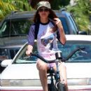 Victoria Justice was spotted going on a bike ride with her boyfriend, Ryan Rottman, on Friday, July 1