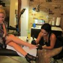 Ashley Tisdale: Getting Tattoos At East Side Ink In NYC