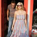 Tori Spelling And Dean McDermott Out Shopping For A New Ducati Motorcycle And Jacket 06-26-08