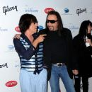 Ace Frehley and Jeff Beck attend the after party for Les Paul's 95th birthday