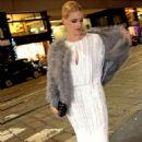 Michelle Hunziker in Long Dress – Out in Milan - 454 x 755