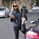 Ashley Tisdale Leaving Yoga Class In Los Angeles