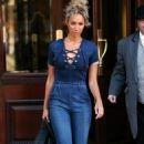 Leona Lewis – Leaving the Landmark Hotel in London - 454 x 733