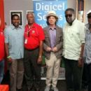 Mick Jagger with cricket legends at cricket match - Beausejour, St. Lucia - 25 April 2011 - 454 x 306
