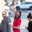 Dave Grohl is seen at 'Jimmy Kimmel Live' in Los Angeles, California - 449 x 600