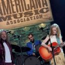 Robert Plant and Patty Griffin perform onstage at the 13th annual Americana Music Association Honors and Awards Show at the Ryman Auditorium on September 17, 2014 in Nashville, Tennessee