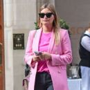 Holly Valance – In a pink blazer out in London - 454 x 596