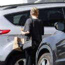 Emma Roberts – Shows baby bump at Alfred Coffee in Los Angeles