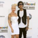 Amber Rose and Wiz Khalifa Arrive at the 2012 Billboard Music Awards held at the MGM Grand Garden Arena in Las Vegas, Nevada - May 20, 2012 - 395 x 594