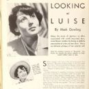 Luise Rainer - Picture Play Magazine Pictorial [United States] (November 1935)