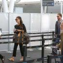 Alicia Vikander and Michael Fassbender at Toronto Airport July 18, 2017 - 454 x 377