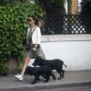 Pippa Middleton – Walking her dogs in London - 454 x 316