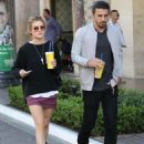 Lucy Hale  spotted out shopping at The Grove in Los Angeles, California on March 31, 2016 - 454 x 583