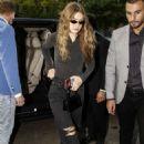 Gigi Hadid – Arrives to Fendi Fittings at Milan Fashion Week in Milan
