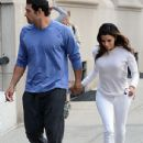Eva Longoria and Mark Sanchez apartment shopping - 435 x 580