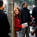 Emma Roberts On The Set Of Hotel For Dogs 2007-11-09
