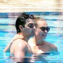Blanda & Joe Jonas Pool Party Kissing